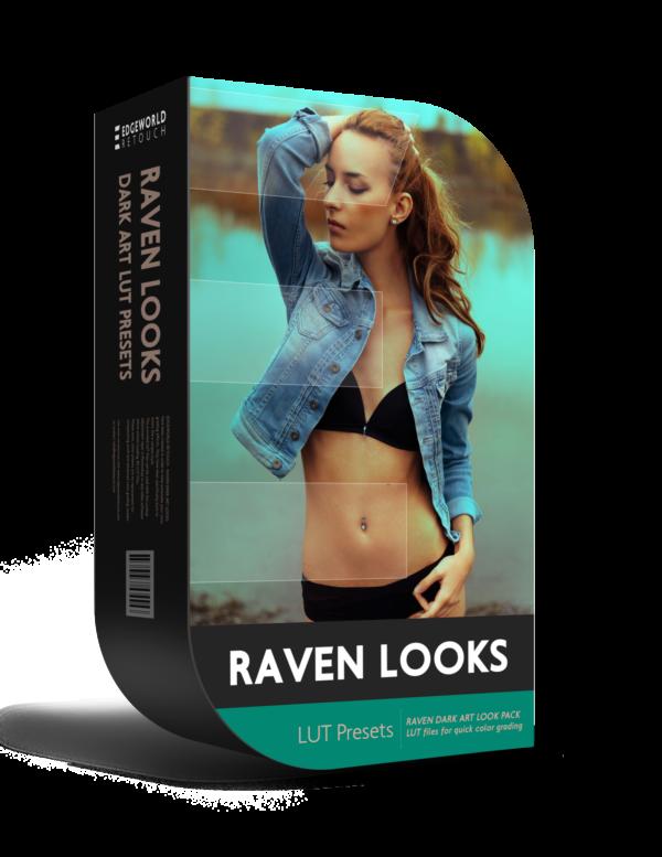 RAVEN Dark Art <br>3D LUT <br>Color Grading Pack - Boutique Retouching - EWR RAVEN DARK ART