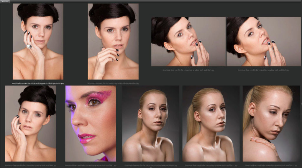Download FREE RAW Files For Beauty Retouching Practice | Beauty Retouch Raw Resource - Boutique Retouching - free raw preview 1