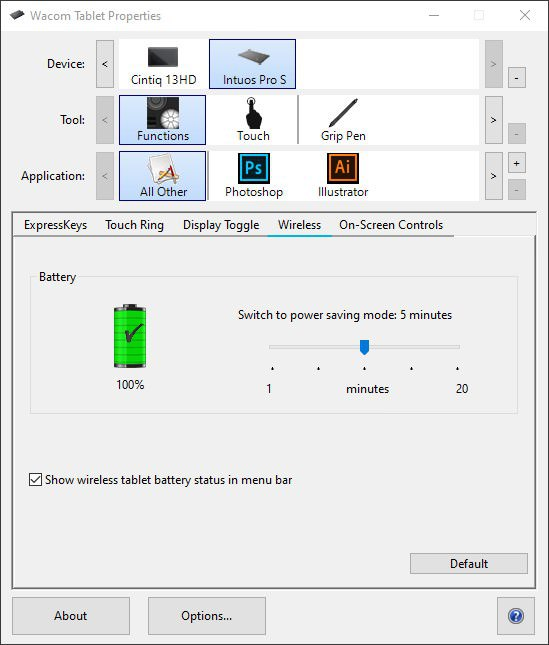 Boutique Retouching Wacom-tablet-functions-wireless-settings How To Set Up Your Wacom Tablet For Efficient Retouching